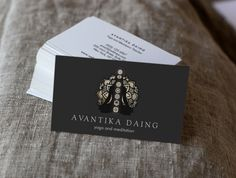 Business Cards great for yoga instructors, reiki masters, meditation teachers and energy workers. Design by Maura Reed.