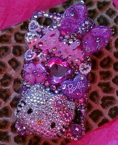 Purple pink girly Decoden Hello Kitty by PrettyGirlCouture4u, $125.00