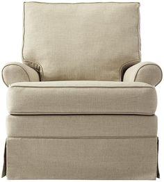 Custom Roxboro Upholstered Glider - Rocking Chair - Glider Rocker - Glider - Swivel Chairs - Accent Chairs - Living Room Furniture | HomeDecorators.com
