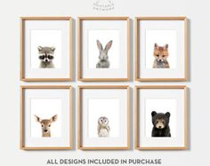Woodland nursery decor Baby woodland animals nursery Animal