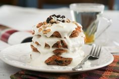 Grain Free Carrot Cake Pancakes | by Sonia! The Healthy Foodie