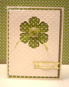 St. Patrick's Day Selene Kempton ~ Stampin' Up! Independent Demonstrator @corie stolhand