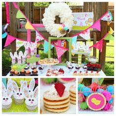 Easter Brunch and Egg Hunt party via Kara's Party Ideas karaspartyideas.com #easter #egg #hunt #party #ideas #spring #bunny