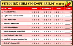 This is the chili cook-off ballot I made for our 2014 event