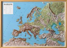 Europe Raised Relief Map