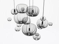 Farming net lamps by Nendo