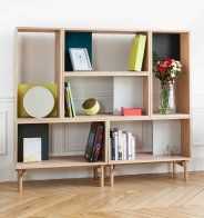 Edgar enables you to build your own storage furniture. These shelves are made of oak and designed by French brand Harto. Furniture, Minimal Furniture, Shelves, Large Furniture, Interior, Home Furnishings, Interior Design News, Simple Furniture, Furniture Design