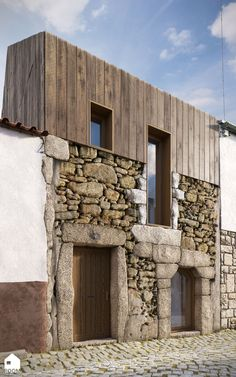 Images SPEAK about rebuilding a house in Penamacor, a small village in Serra da Estrela.Facade of the existing house was retain and a new floor was created. Wood-lined manages to convey a sense of rurality to the building. The architectural project was developed by the Portuguese architect company Creative Space.