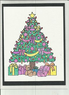 a simple tree post card - Cool Christmas Decorations