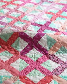 Berry Cross Stitch Quilt
