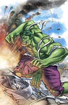 #Hulk #Fan #Art. (Hulk vs Helicarrier) By: SachaLefebvre. (THE * 5 * STÅR * ÅWARD * OF: * AW YEAH, IT'S MAJOR ÅWESOMENESS!!!™)[THANK Ü 4 PINNING<·><]<©>...........