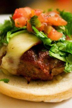 Mexican Turkey Burgers-1 lb ground turkey, 1 egg, 1/2 onion minced, 2 cloves garlic minced, 1 tsp ground coriander, 1/2 tsp celery salt, 1 tsp chili powder, 1/2 tsp cumin, 1 tbsp fresh chopped parsley  pepper
