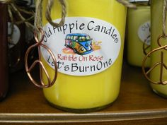 This candle has an Intense yellow rose fragrance that's sure to have your bus..... or house smelling Grate!!  Hippiemade in the USA!  100% all natural soy wax & essential oils, we use only cotton or hemp wicks for a clean slow burn every time, all of our candles are poured into 8 ounce jars an...