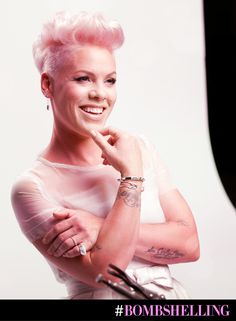 Our #bombshelling beauty P!NK working it at her truBLEND Foundation photoshoot.