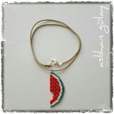 Made in Uzunköprü..beaded watermelon..beadwork..miyuki..peyote tekniği