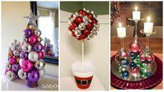 9 manualidades decorativas usando bolas de Navidad
