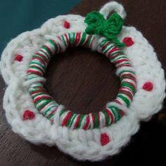 adorno navideño tejido