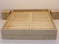 Tweepersoonsbed steigerhout budget van nieuw of oud steigerhout (BD)
