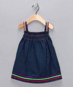Denim & Pink Rickrack Dress - Infant & Toddler by Bright Trends: Sets & Separates on #zulily