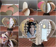 Creative Ideas - DIY 3D Paper Heart Mini Album