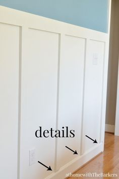 Dining Room Board and Batten Trim Detail