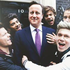 ONE Direction teamed up with David Cameron to promote this year's Red Nose Day charity single at Downing Street