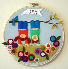 Cute felt and embroidery work!