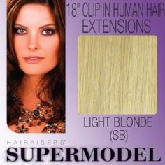 "18"" Clip In Human Hair Extensions Colour SB"