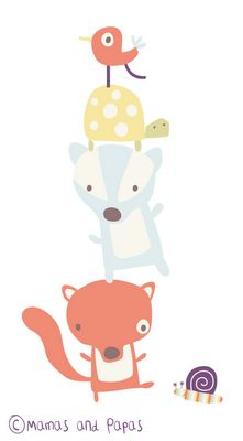 pop-i-cok: mamas and papas Rosie and Rex Drawing For Kids, Art For Kids, Art Kawaii, Woodland Creatures, Woodland Animals, Baby Kind, Cute Characters, Illustrations And Posters, Cute Illustration