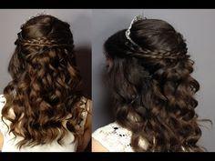 Resultado de imagen de sweet 16 hairstyles with tiaras