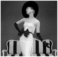 Susan Abraham John Cavanagh evening gown, Spring 1957