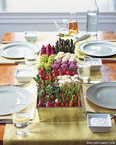 veggie centerpiece simply living