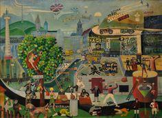Hlinomaz Josef Naive Art, Siena, Painting, Painting Art, Paintings, Painted Canvas, Drawings
