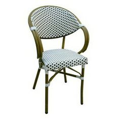 alston quality industries browncream woven seat aluminum stackable patio dining chair - Stackable Patio Chairs