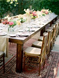 Cute table setting with burlap cover!