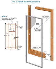 Wooden Screen Door - Woodworking Projects - American Woodworker Best Storm Doors, Wood Storm Doors, Wood Screen Door, Wooden Screen, Screen Doors, Popular Woodworking, Woodworking Plans, Woodworking Projects, Intarsia Woodworking