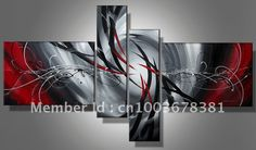 factory Large stretched Handmade canvas paintings