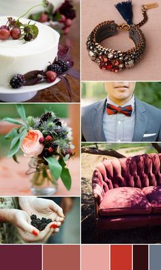 Inspired by Autumn Wedding Colour Palette