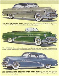 1952 Buick Special The material which I can produce is suitable for different… Motos Vintage, Cadillac, Pub Vintage, Car Part Furniture, Buick Cars, American Classic Cars, Car Illustration, Car Advertising, Car Posters