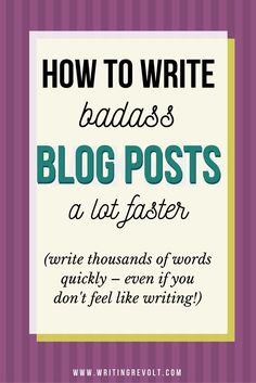 Wanna boost your writing speed? Need to learn how to write faster? Click to learn how to write high-quality, in-depth blog posts fast, and improve your content creation skills in the process! :) | blogging tips | blogger | solopreneur | infopreneur | creative entrepreneur tips | freelance writing tips | writer tips |