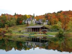 """Twin Farms, a late-1700s stone, pine, maple, and brick farmhouse and lodge, the former home of Nobel Prize–winning writer Sinclair Lewis, is now a """"top-notch lodge"""" 75 miles southeast of Burlington."""
