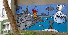 Havre Aplemont photo: Gouzou sur le chemin de la plage Street Art, What To Draw, Graffiti Art, Urban Art, Cool Art, Doodles, Kids Rugs, Animation, Photos