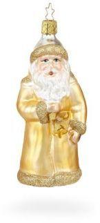 Inge's Christmas Decor Golden Nik Glass Ornament