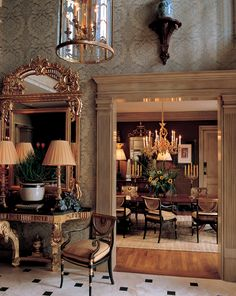 Formal enfilade of rooms