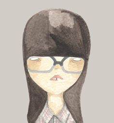 print girl with glassesplaid and glasses by prettylittlethieves