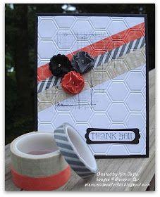 SU! Washi Tape card -- put washi tape on and then run through embossing folder