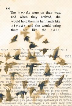 """The words were on their way"" -The Book Thief, Markus Zusak #quotes #books"