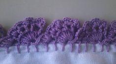 Como fazer bico de crochê    Carreira única