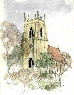 Church Sketch ~ John Edwards