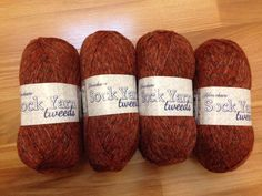 4 Skeins Tweeds Sock Yarn in Royalty! $23 SHIPPED! Reds Wool Blend! 437 Yards Per Skein!! #Tweeds #Sock